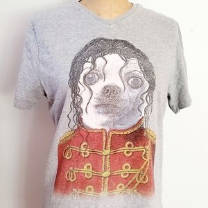 RARE Pets Rock Michael Jackson ChihuahuaTee
